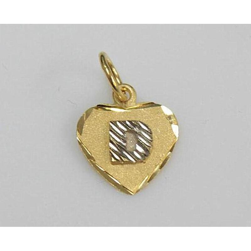 Corrente Feminina com pingente Letra Coração Ouro 18k   Joalheria ... e521401f52