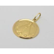 Pingente Medalha Ouro 18k Nossa Senhora Aparecida JSP1643 ... f3c0e0809a